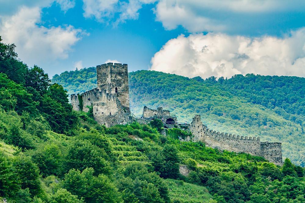 Hinterhaus Castle ruins near Spitz in Austria's Wachau Valley