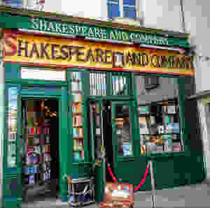 Shakespeare & Company Bookstore, just steps from the Seine on the Left Bank.