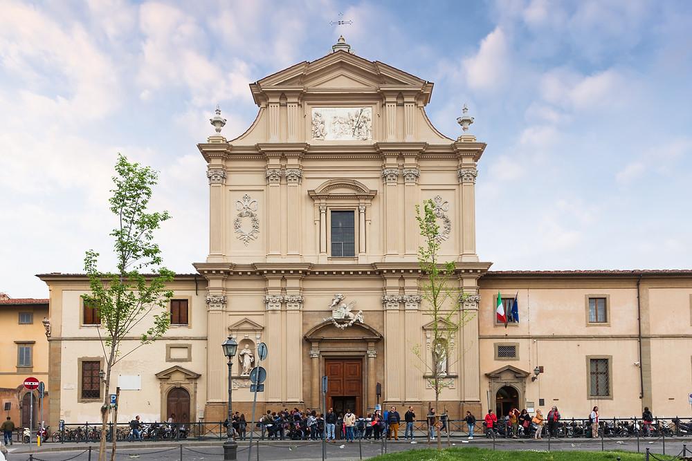 facade of San Marco Monastery in Florence