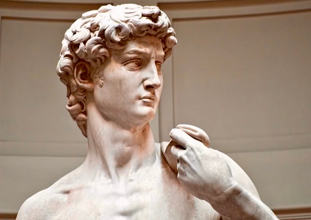 Michelangelo's David in the Galleria dell'Accademia in Florence
