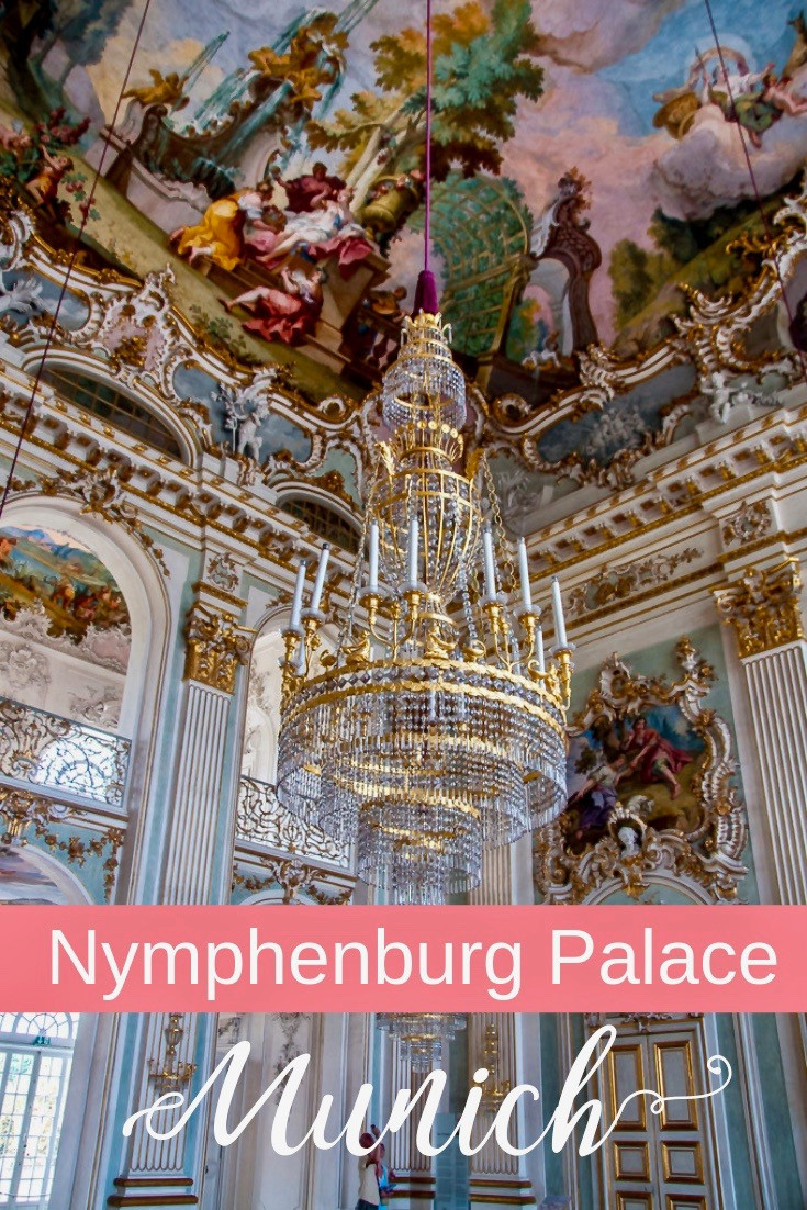 Nymphenburg Palace in Munich Germany, one of Europe's largest and most beautiful palaces