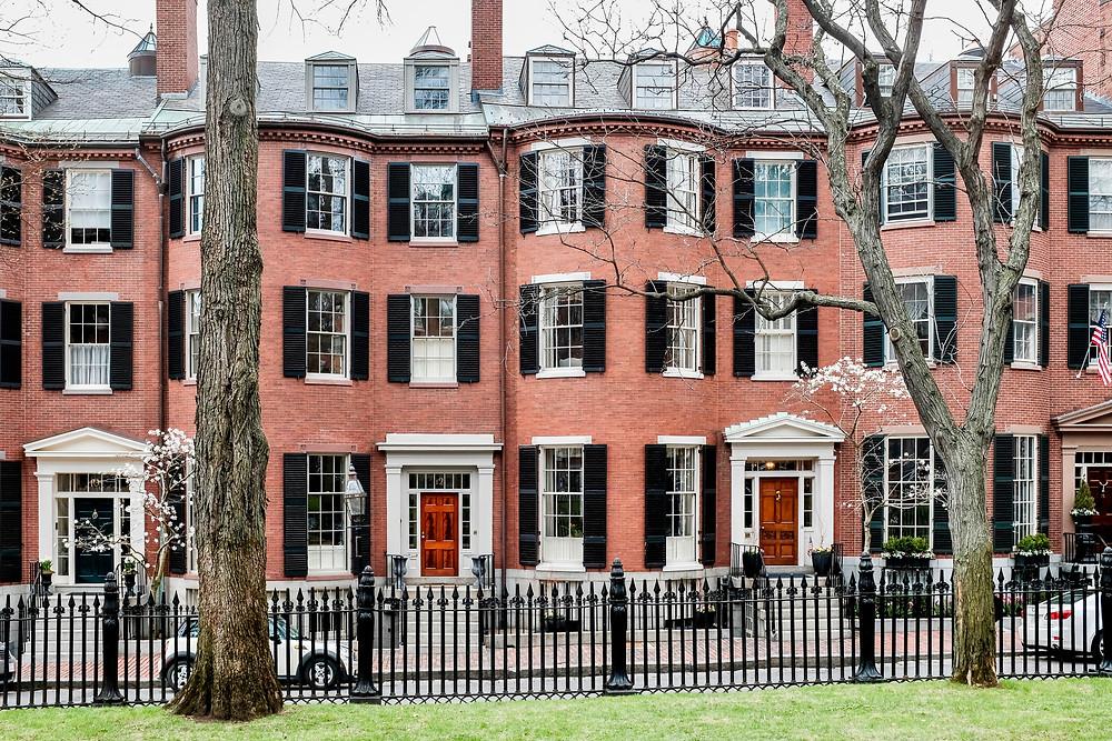 Louisburg Square in the Beacon Hill neighborhood of Boston MA