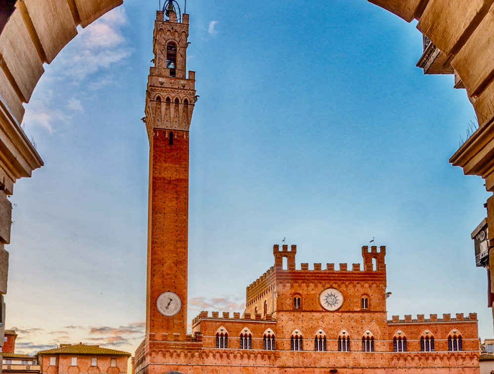 view of Palazzo Publicco in Siena