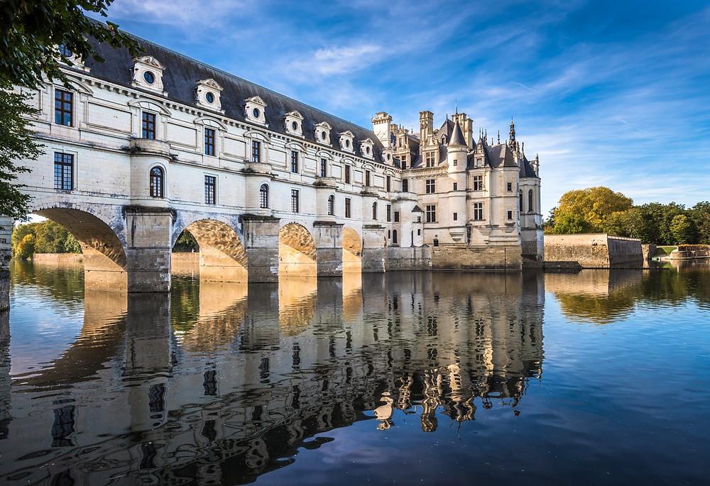 the elegant Chateau Chenonceau