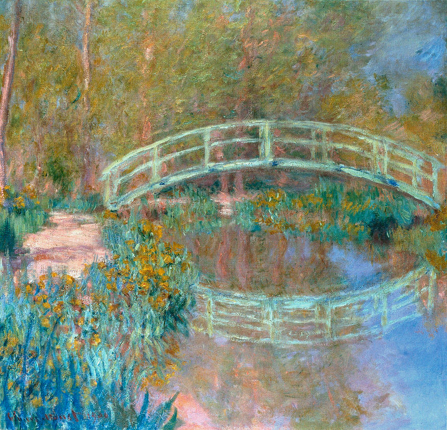 Monet painting of the bridge in his Giverny gardens