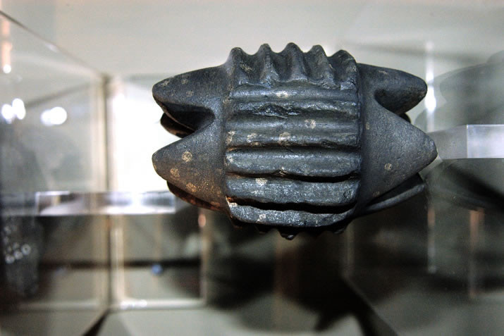 one of the mysterious carved stones found at the site