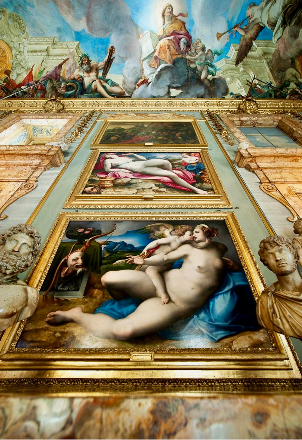 Bronzino paintings in the Hall of the Battle Column