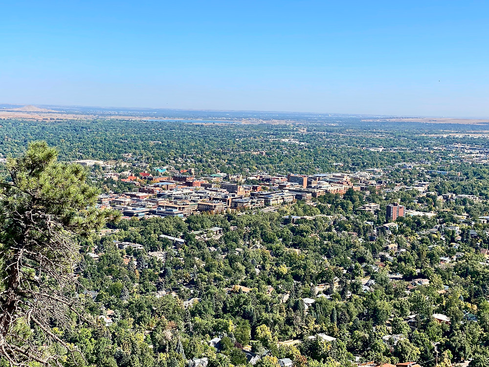 view of Boulder from Lost Gultch viewpoint
