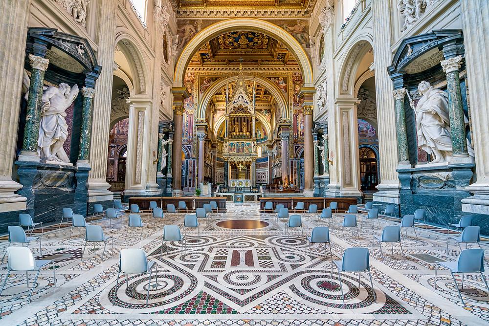 the Borromini-designed nave