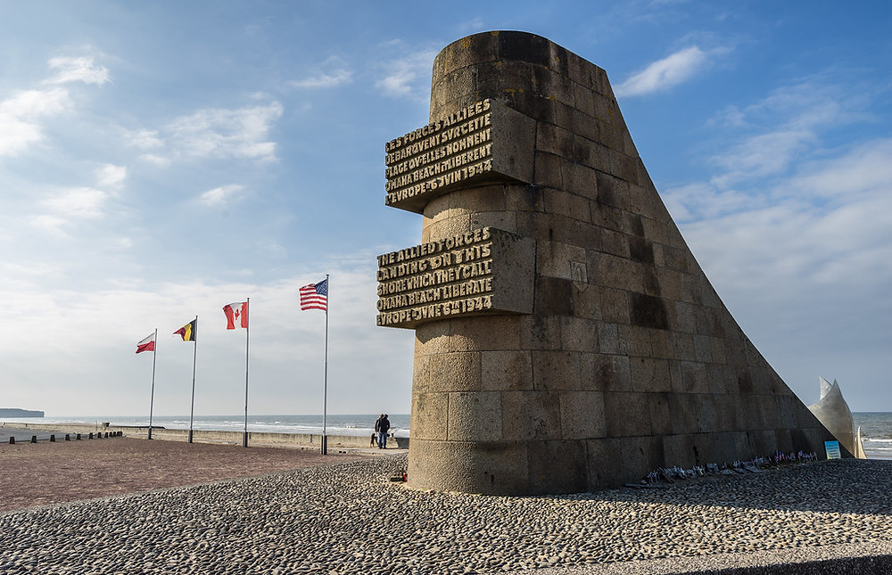 Omaha Beach Memorial in Normandy