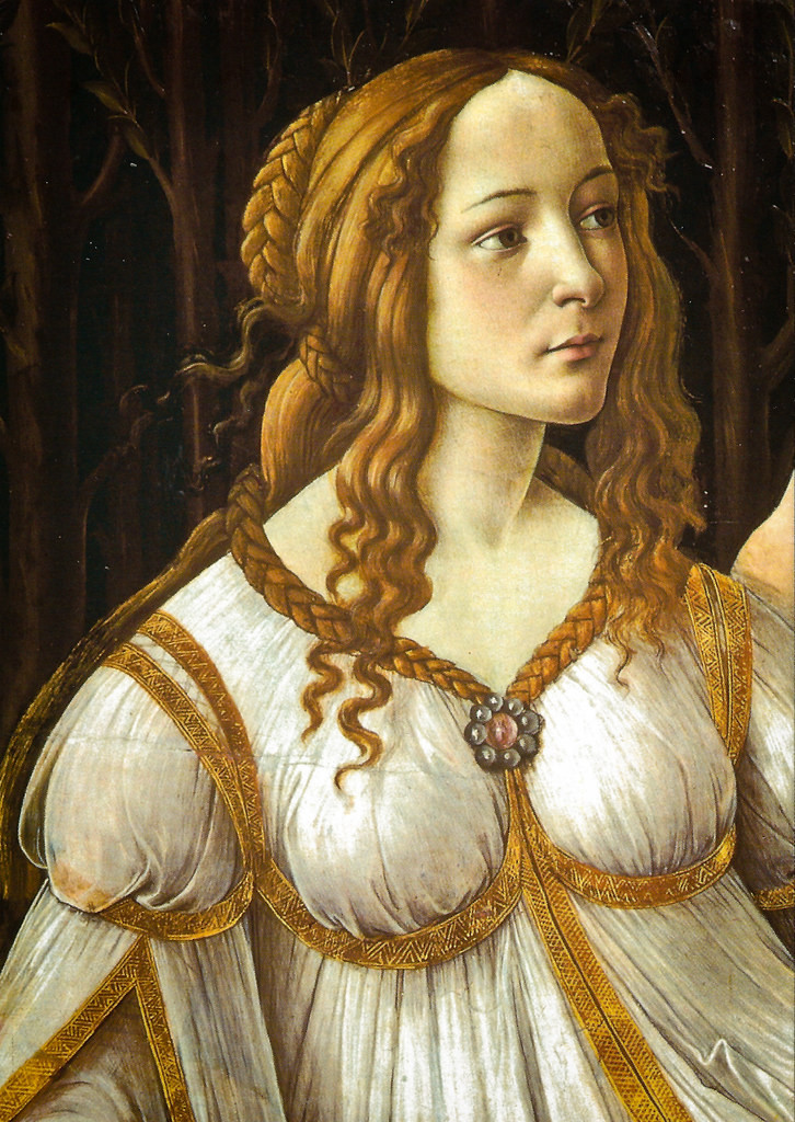 Botticelli, detail of Venus and Mars, 1483 -- in London's National Gallery