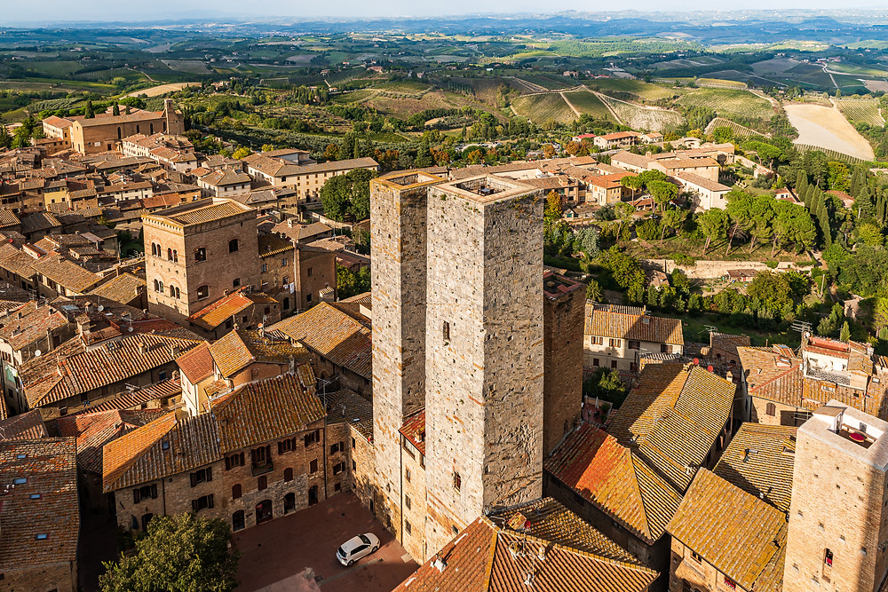 view of San Gimignano from the Torre Grossa