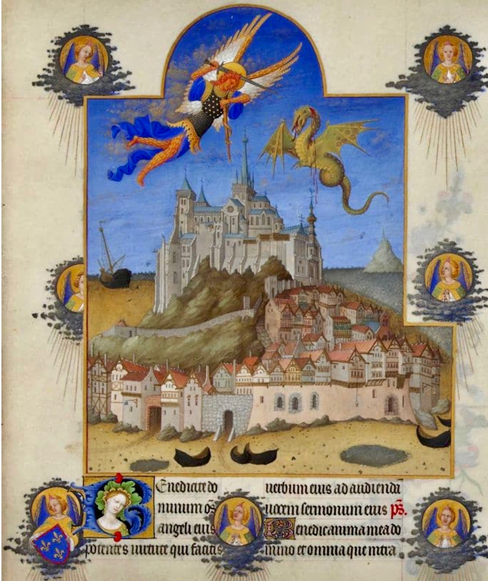painting of Mont Saint-Michel from the 15th century