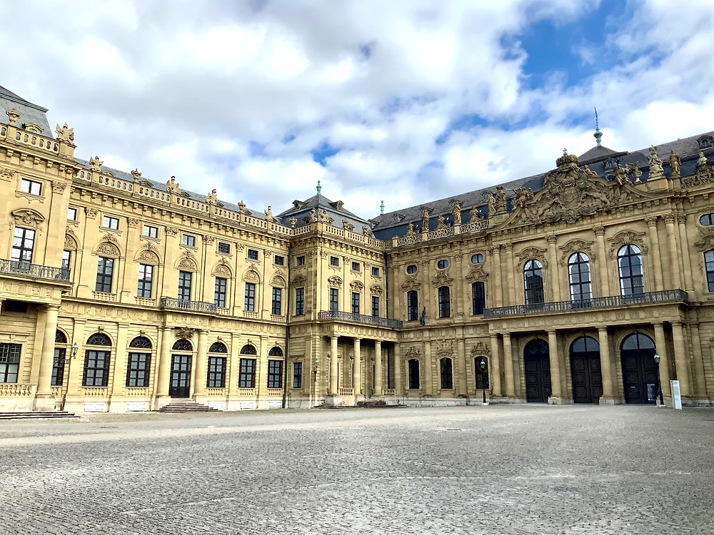the Wurzbug Residenz, or imperial palace -- no pictures inside and guards to enforce that policy