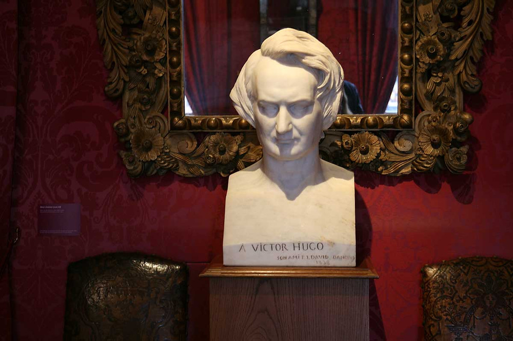 Marble bust of Victor Hugo by David d'Angers