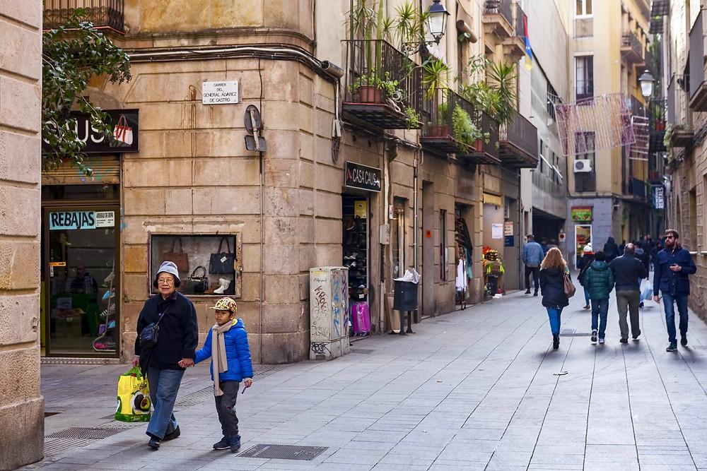 the El Raval neighborhood in Barcelona