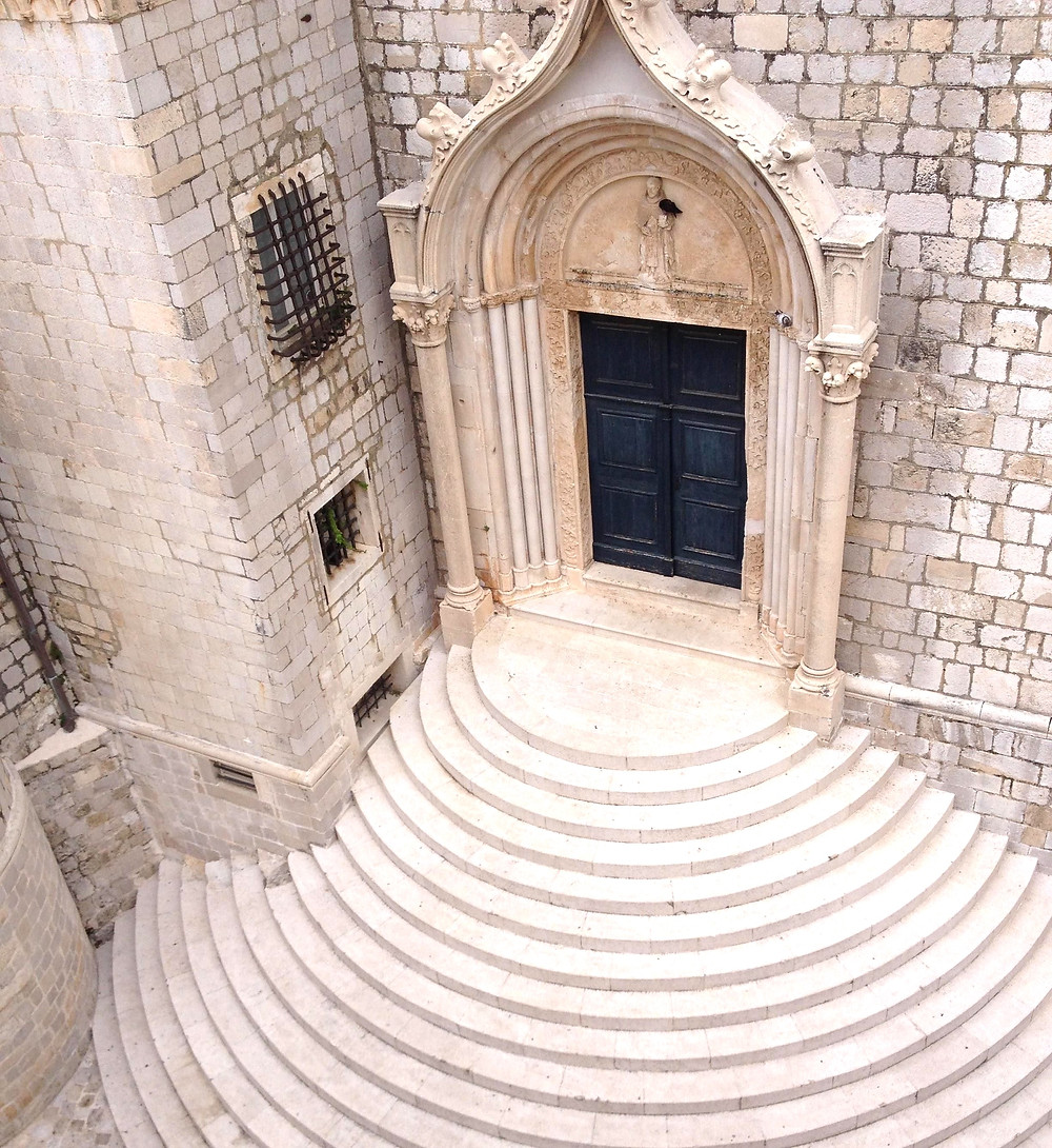 beautiful stairway leading to the Dominican Monastery