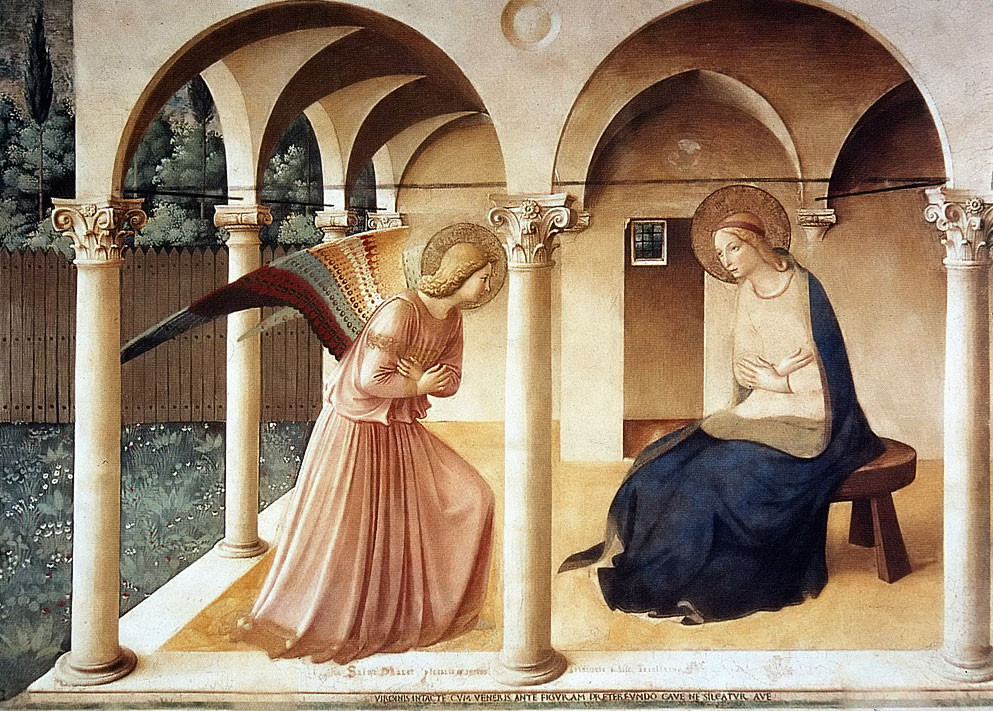Fra Angelico, The Annunciation, c. 1450