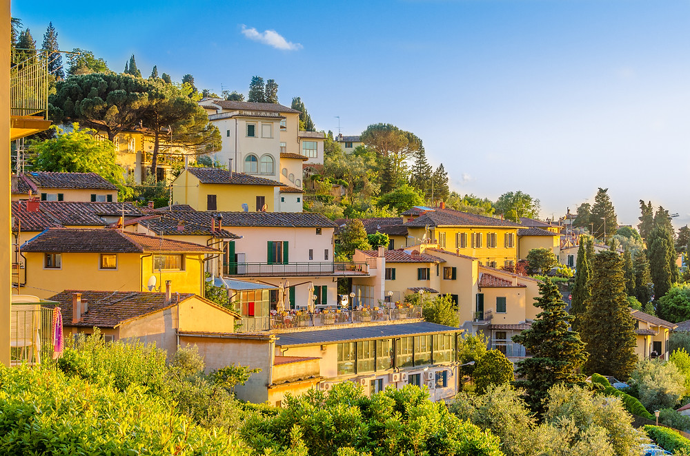 the pretty town of Fiesole, right outside Florence