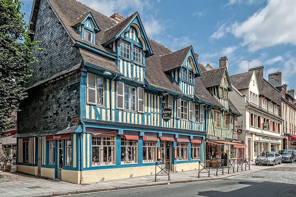 half timbered architecture in Pont d'Eveque, a hidden gem town in Normandy