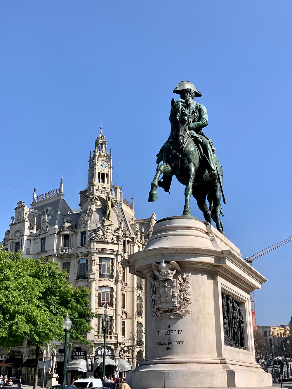 the fancy McDonalds is right across from Porto's Pedro statue