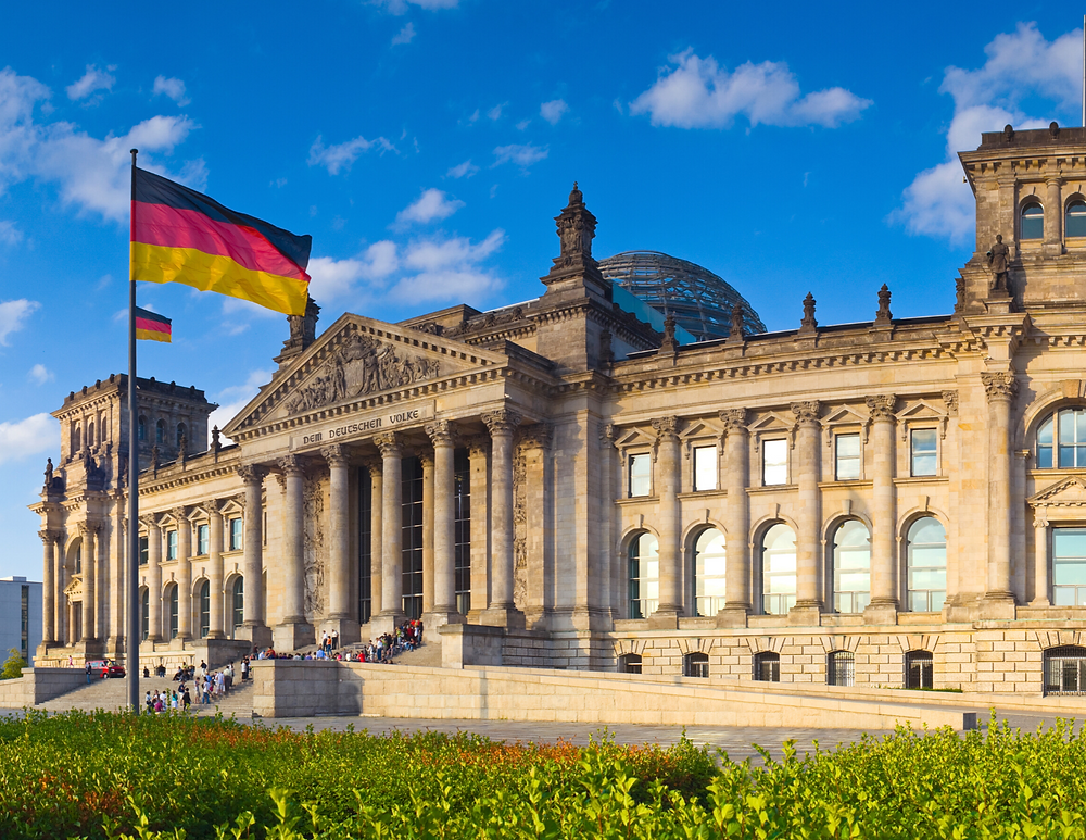 the Reichstag, the German parliament building