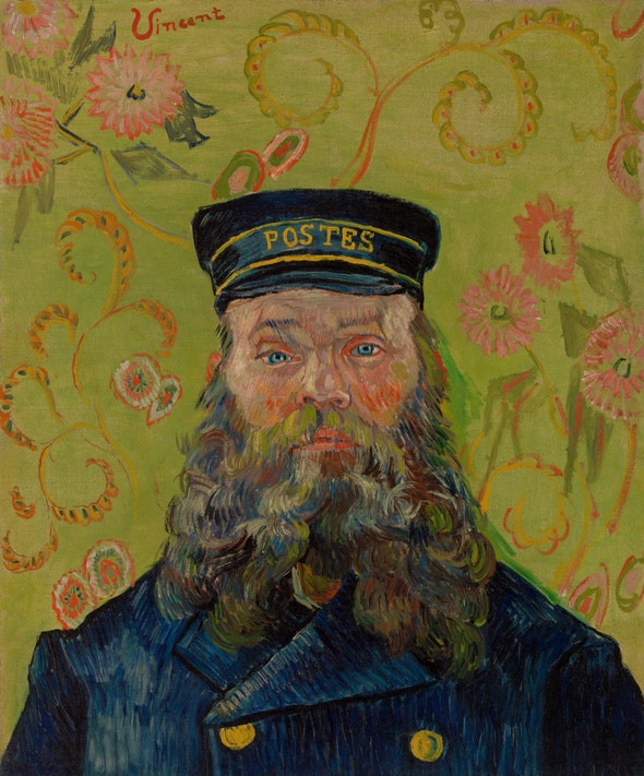 Vincent Van Gogh, The Postman, 1889 -- one of Barnes' first aquisitions