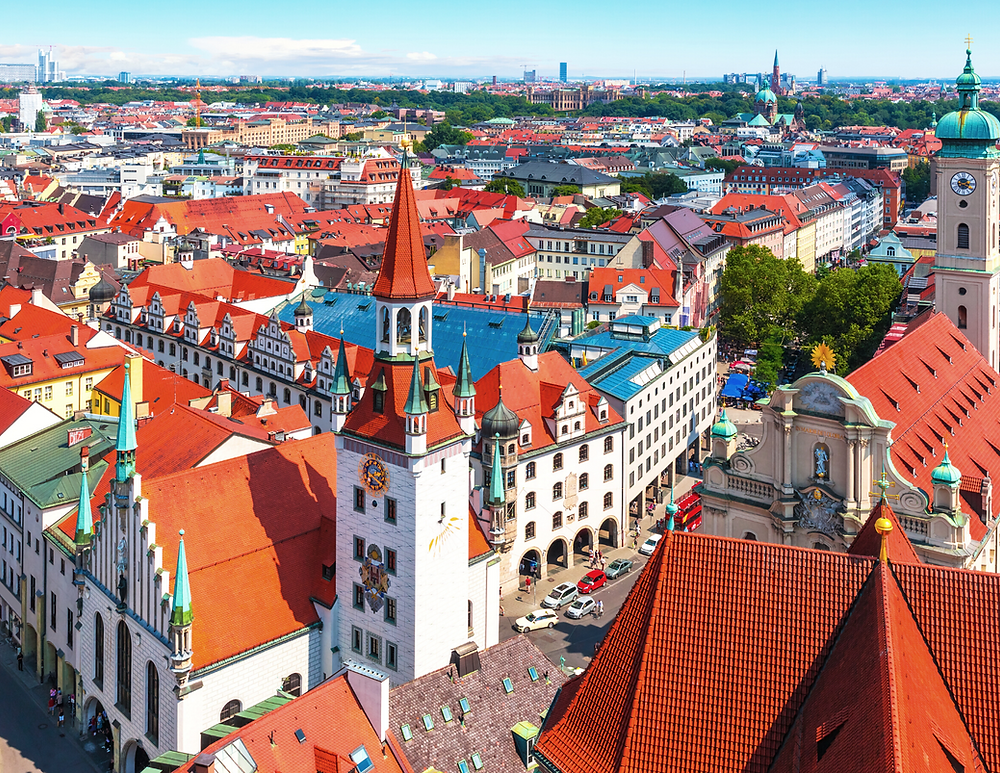 view of Munich from St. Peter's Church