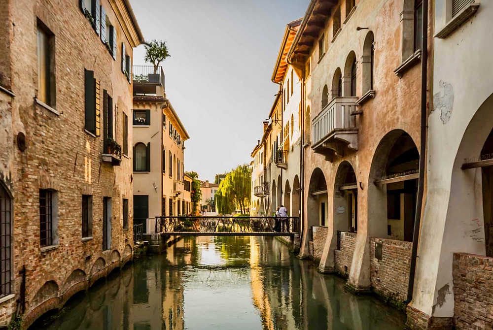 canals in Treviso Italy
