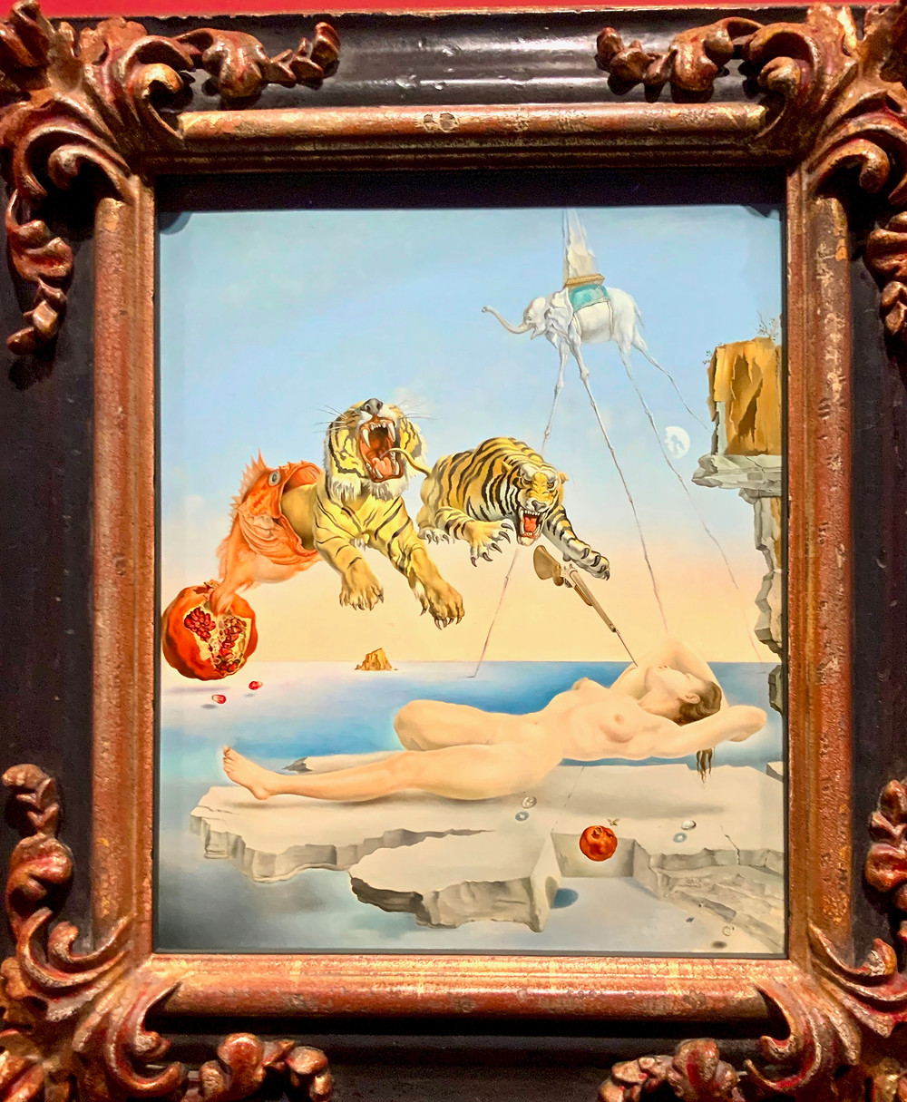Salvador Dali, Dream Caused by the Flight of  Bee, 1944 -- part of a Surrealist exhibition at the Hungary National Gallery