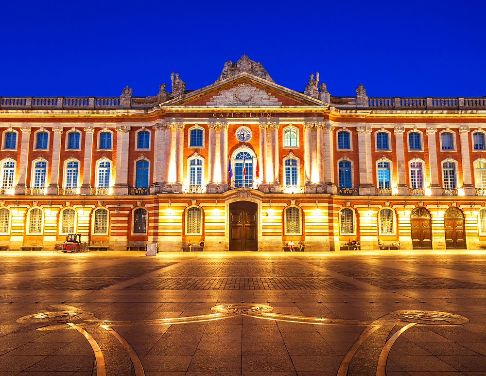 Place du Captiole in the historic center of Toulouse France