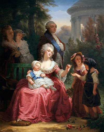 Louis XVI and Marie Antoinette in the Gardens of Versailles
