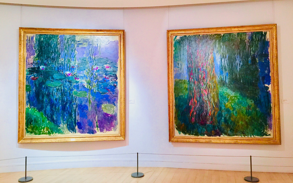 two of Monet's massive water lilies