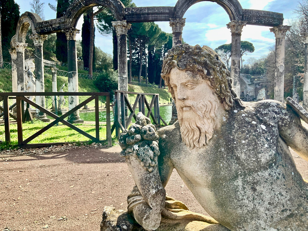 statue at the Canopus of Hadrian's Villa