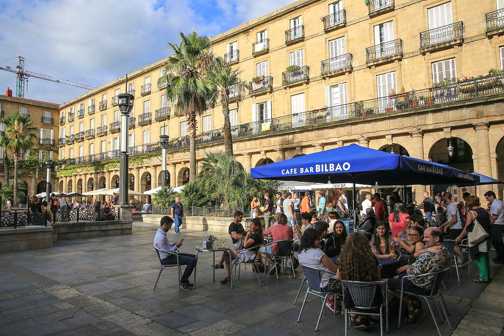 Plaza Nuevo in Bilbao