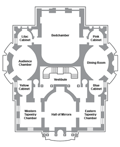 layout of Linderhof Castle