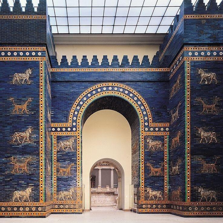 Ishtar Gate from Babylon in the Pergamon Museum