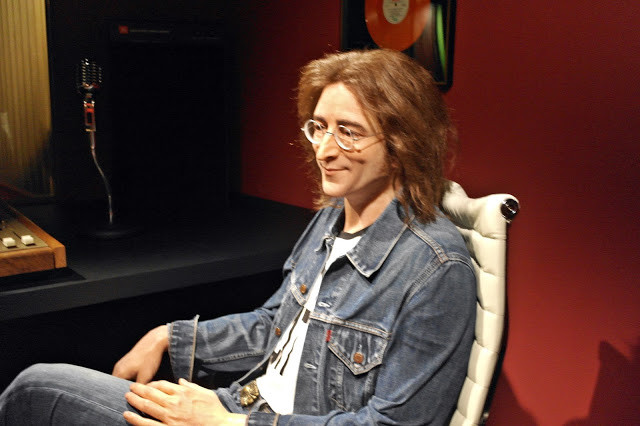 a Beatles fan can't resist the John Lennon wax figure