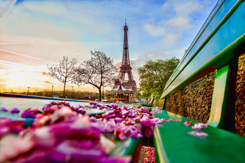 view of the iconic Eiffel Tower