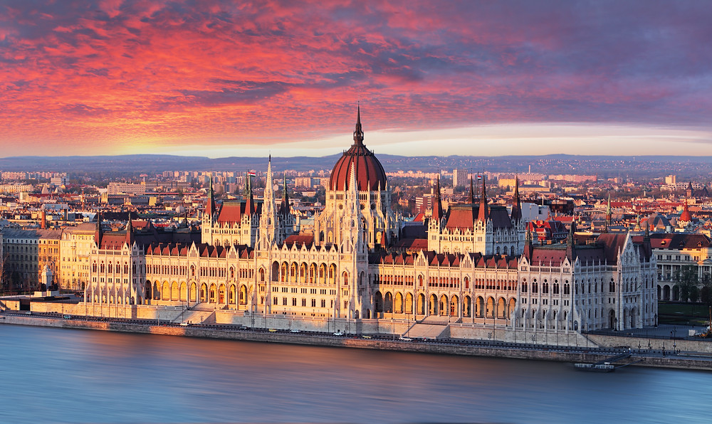 the beautiful Budapest Parliament building