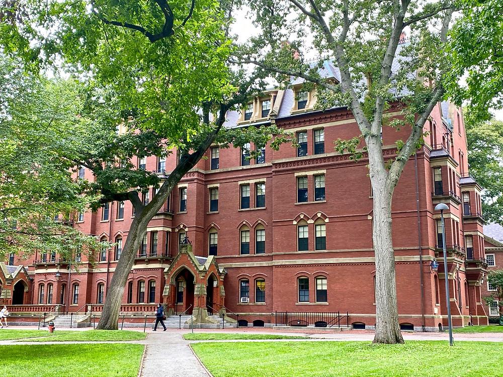 beautiful Matthews Hall at Harvard University