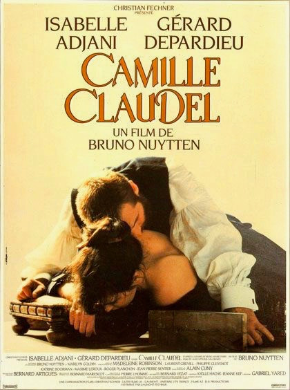 The movie Camille Claudel starring Isabelle Adjani and Gerard Depardieu -- an acclaimed but overwrought movie focusing on their affair