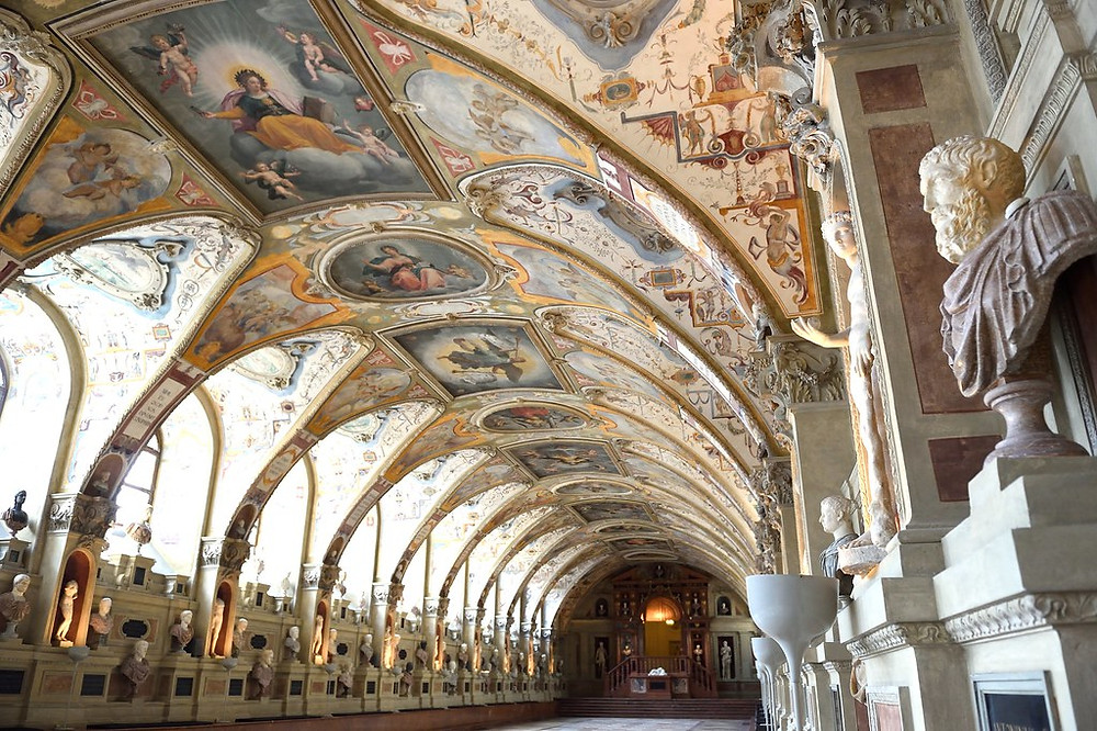The Antiquarium, the Hall of Antiquities, at the Munich Residenz