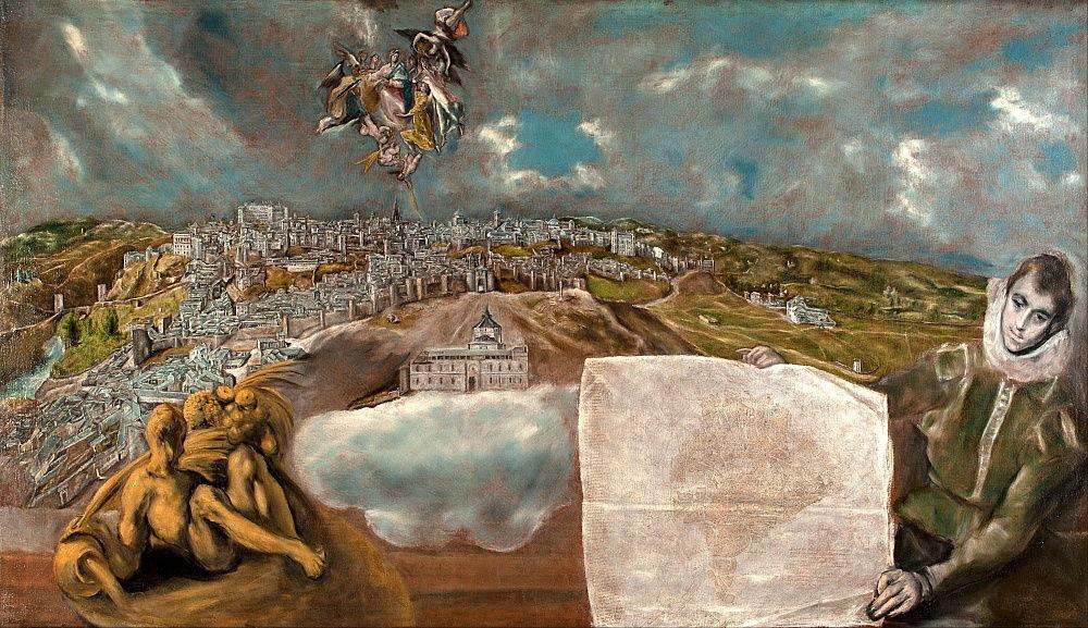 El Greco, View and Plan of Toledo, 1610-14