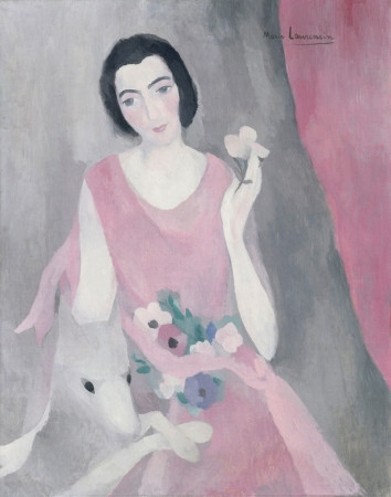 Maurice Laurencin, Portrait of Madame Paul Guillaume, 1928 -- a dreamy floaty piece that harks back to Ingres