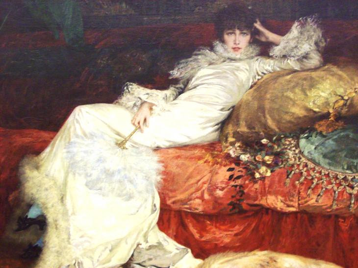 one of my favorites -- Portrait of Sarah Bernhardt, 1876, Georges-Jules-Victor Clairin