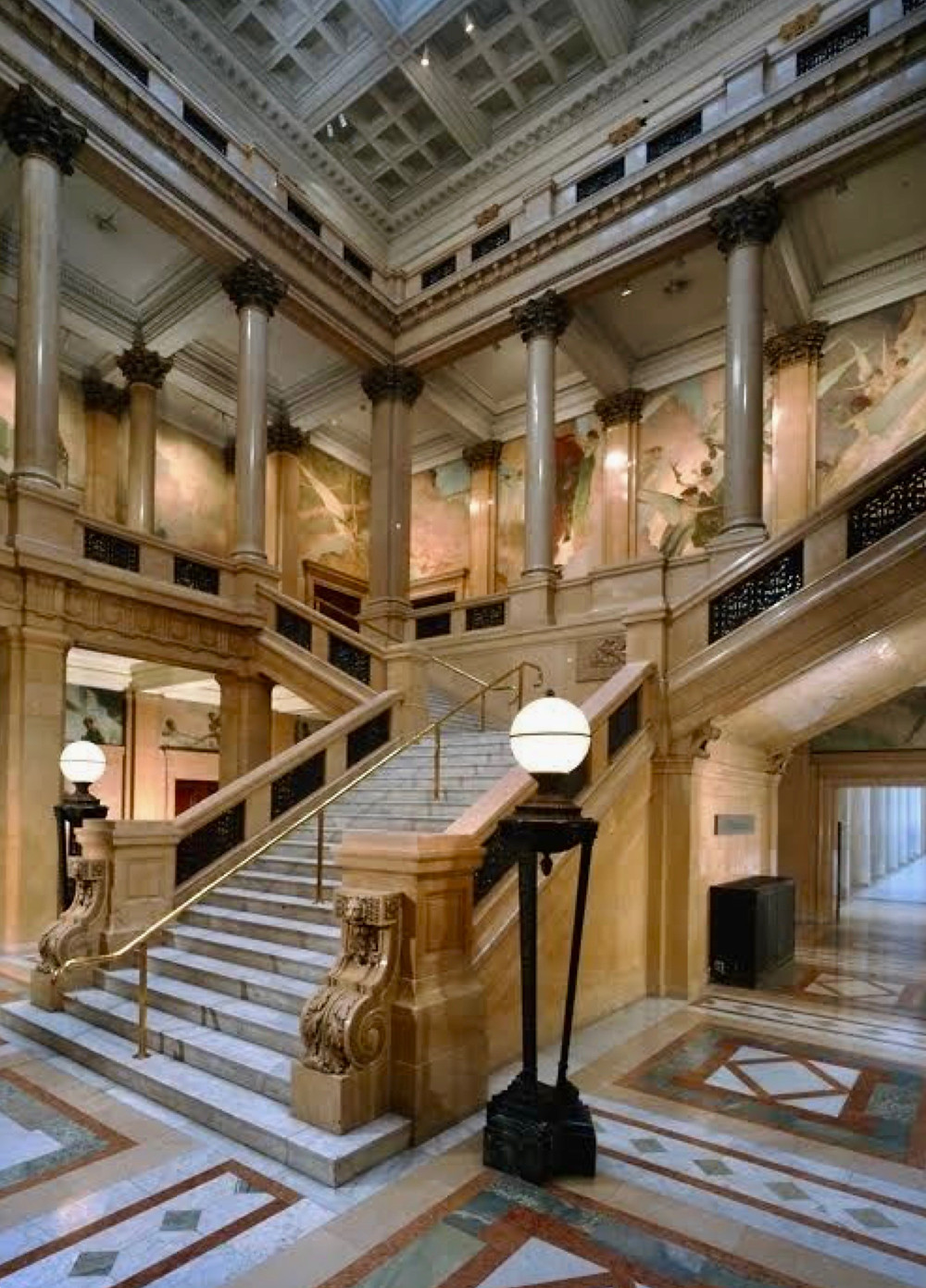 the Grand Staircase in the Carnegie Museum of Art