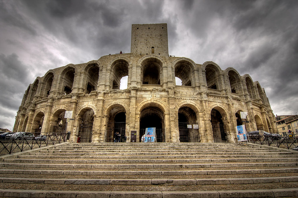 the Roman amphitheater in Arles in the Provence region of France