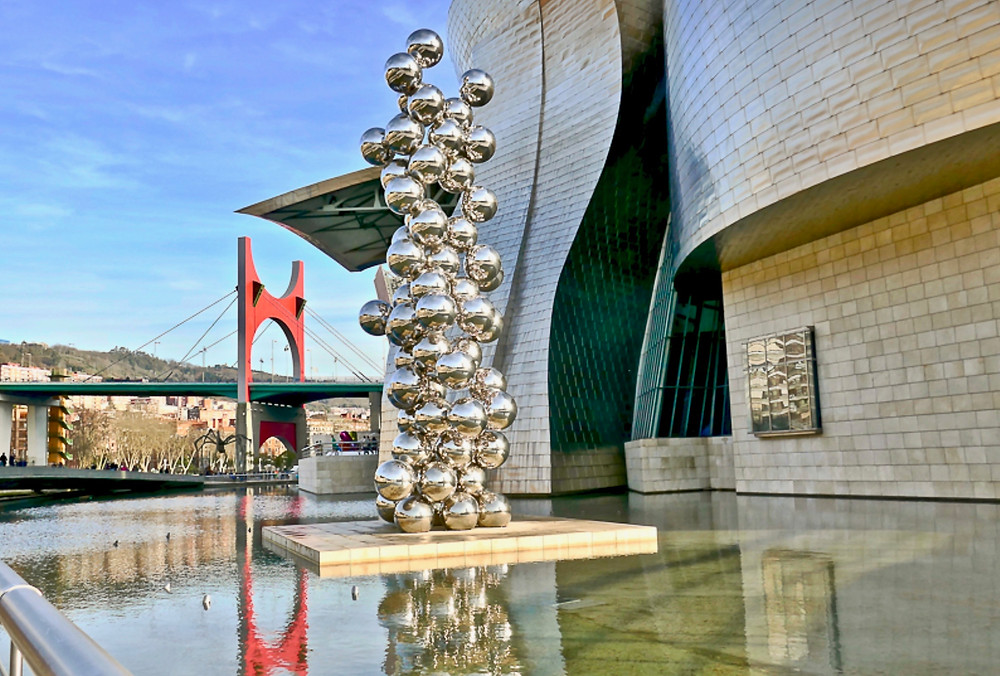 Anish Kapoor's Tall Tree and the Eye at Bilbao's Guggenheim Museum