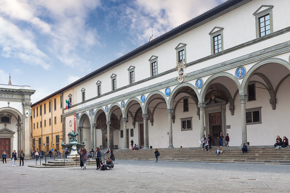 the Hospital of the Innocents in the Piazza della Santissima Annunziata